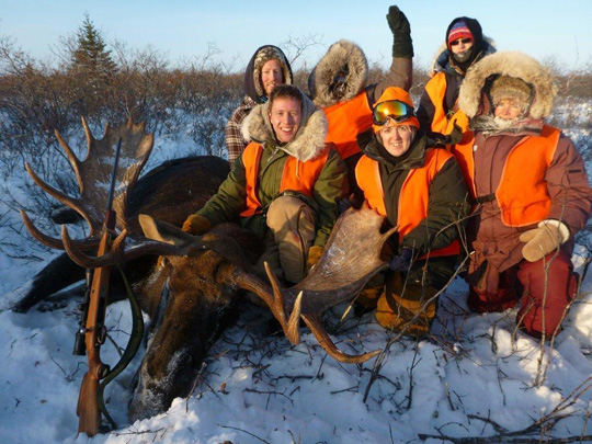Manitoba Moose Hunting Family Photo