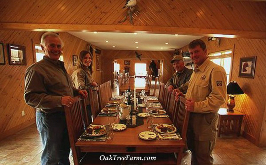 Fine dining at Oak Tree Lodge, Clark South Dakota