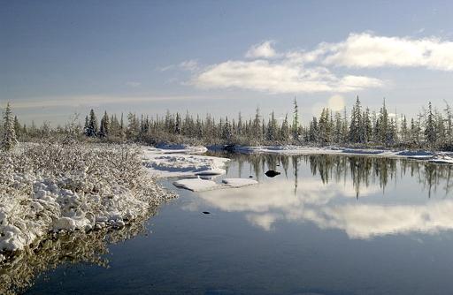 Springtime at North Knife Lake
