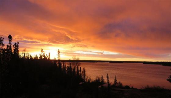 Sunset at Webber's Lodges.