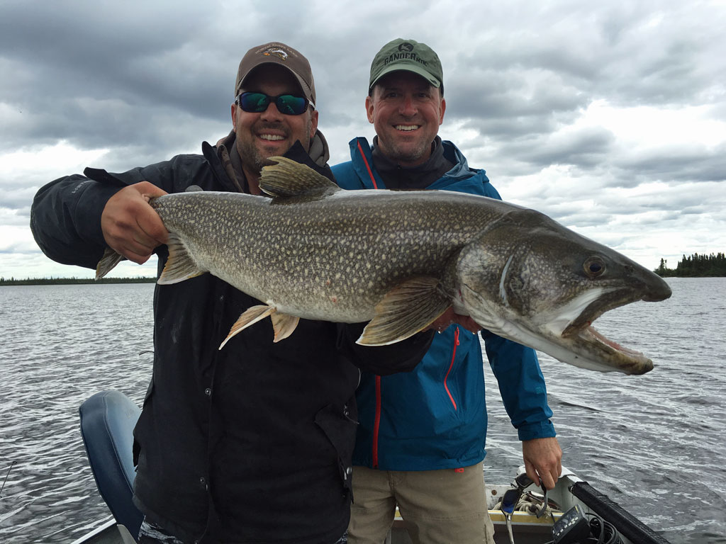 Jeff Vukelic with awesome Lake Trout at North Knife Lake.