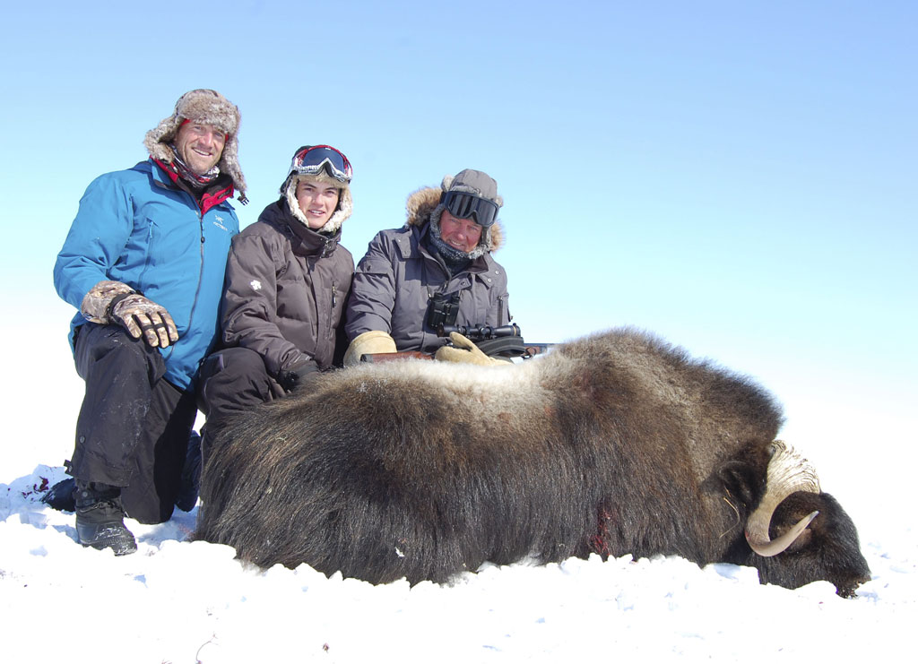 Yuell family. Three-generation Musk Ox hunt.