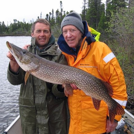 Gene Vukelic (right) and Mike Reimer at North Knife Lake Lodge.
